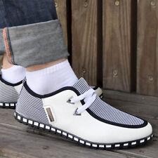 Mesh Lace-up Comfort Casual Sport Walking Loafer PU Plimsoll Sneaker For Men Boy