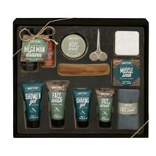Mens Toiletry Bath & Body Male Grooming Gift Set Face Wash Gel Scrub Shave Balm