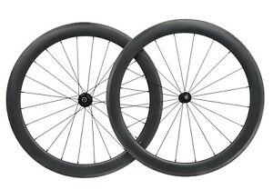 RIM BRAKE Carbon wheels clincher matt road bicycle wheelset 700C Tubeless 55mm