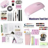 Nail Art Manicure Set 36w Led Lamp Gel Nail Polish Quick Building Extensions US