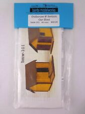 More details for railway ho / oo scale banta modelworks model kit outhouse & section car shed new