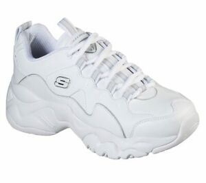 SKECHERS D'Lites 3.0 Proven Force Sneakers Woman White Bianco, Casual, Donna
