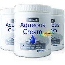 3x Nuage Aqueous Moisturiser Fragrance & Lanolin Free Skin Wash Soap Cream 500ml