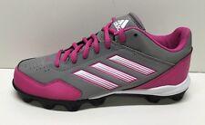 Adidas Women's Abbott Wheelhouse MD Low Softball Cleats Size 5.5 Pink Gry Wht