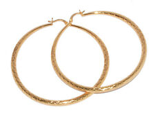 Layered Round Hoop Earing Tanish Free Beautiful Classic Large 55Mm 18Kt Gold