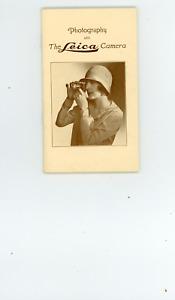 ca 1928 Leica  camera  ad pamphlet