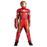 Disney Marvel Avengers Iron Man Costume 3pc Set for Kids w/ Sounds Size 5/6 & 13