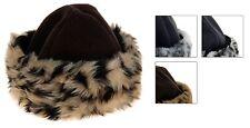 Ladies Girls Winter Hat Fleece Hat with Fur Trim Cloche Hat with Fake Fur S M L