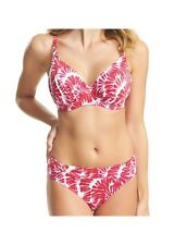 FANTASIE LANAI ROSE RED UNDERWIRE GATHERED FULL CUP BIKINI TOP & BRIEF 32E / 10E