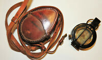 WW1 WW2 Canadian British compass MK III leather case C-> marked 1942 1943 nice!