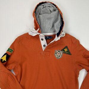 Vintage Polo Ralph Lauren (S) Ski Patrol/Club Mountain Hooded Rugby Shirt