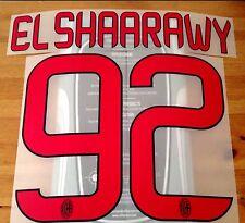2013-14 AC MILAN AWAY SHIRT EL SHAARAWY #92 UFFICIALE STILSCREEN NOME NUMERO SET