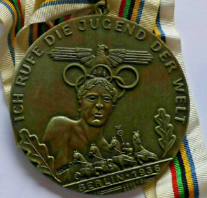Rare Berlin 1936 Games of the XI Olympiad medal, Ich rufe die Jugend der Welt