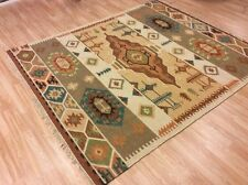 Authentic Tribal Indian Handwoven 100 Wool Kilim Rug XL Large 201x292cm 60 off
