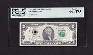 2009 $2 FRN, NEW YORK STAR NOTE, FR# 1939-B*, FORT WORTH, PCGS GEM NEW 66 PPQ