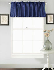1PC Solid Faux Silk Straight Window Valance Topper Waterfall rod pocket S18 NEW