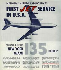 National Airlines First Jet Service Flyer