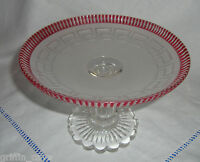 Antique GEORGIAN Glass Tazza / Sweetmeat Dish Superb Condition