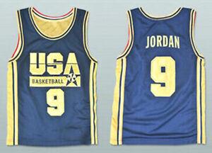 Michael Jordan Jersey 9# 1992 USA Dream Team Olympic Golden Basketball Jersey