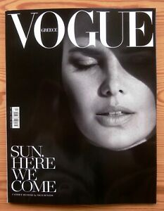 VOGUE GREECE #13 JUNE 2020 GREAT GREEK COVER B' CANDICE HUFFINE BY NICO BUSTOS