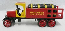 ERTL KENWORTH DELIVERY TRUCK COIN BANK WITH KEY ADVERTISING WELL-McLAIN BOILERS