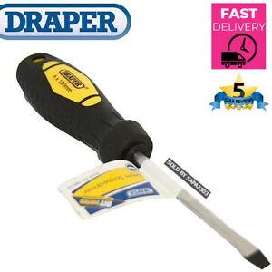 Draper 100mm X 6mm Flat Head Straight Slot Slotted Screwdriver DIY - Brand New