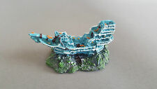Fish Tank Aquarium Decoration Ship Pirate Boat 11x6.5x5cm Ship Wreck