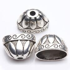 5Pcs Tibetan Silver Hat Charm Bracelet Bangle Handcrafts Bead Caps 20*13*12mm