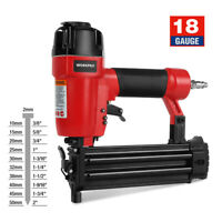 WORKPRO 18-Gauge Pneumatic Brad Nailer Compatible with 3/8inch up to 2inch Nails