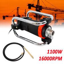 Electric Concrete Vibrator Motor 16000Rpm 1100W 110V Hand Held 14-3/4 Ft 4.5M
