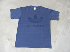 Adidas Shirt Size Adult Small Navy Blue Spell Out Trefoil Double Sided Mens 90s