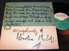 """JOACHIM RINGELNATZ gesprochen von Annemarie Hase / DDR 10""""EP 1961 ETERNA 760007"""