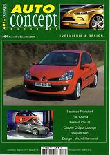 PERIÓDICO REVISTA AUTOMÓVIL CONCEPT Nº64 11/12 05 FIAT CROMA RENAULT CLIO III