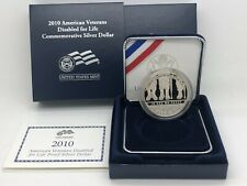 2010 American Veterans Disabled For Life Proof Silver Dollar US Mint OGP COA Box