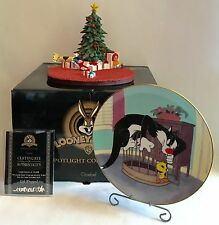 GOEBEL Spotlight Christmas Gift Looney Tunes Scape+Sylvester&Tweety Plate/stand!