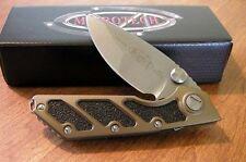 MICROTECH New Tan Manual Action DOC Plain Edge El Max Blade Knife/Knives