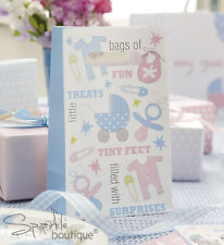 Baby Shower PARTY BAGS x5-Unisex Christening Party- FULL TINY FEET RANGE IN SHOP