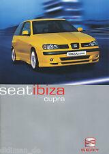 Seat Ibiza Cupra folleto 5 00 span brochure 2000 auto turismos auto folleto España