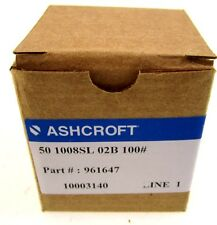 NEW IN BOX ASHCROFT 50 1008SL 02B 100 GAUGE 961647 10003140 501008SL02B