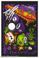 POSTER:ART: POOL SHARK  -  FLOCKED VERSION - FREE SHIPPING    #3267F    LW21 A