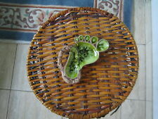 Treasure Craft Green Foot Dish