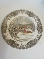 "THE FRIENDLY VILLAGE 10"" Dinner Plates(3) ""SCHOOL HOUSE""Johnson Bros"