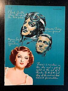 TEST PILOT 1938 TRADE ADS - CLARK GABLE, SPENCER TRACY, MYRNA LOY