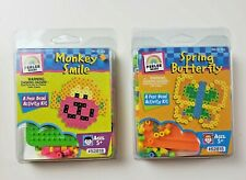 NEW Perler Beads Spring Butterfly and Monkey Smile Kits, 225 beads in each kit