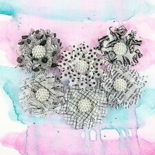 "BRAND NEW Flowers ""Juno - Dice"" Printed Vellum Flowers are Great for Layering"
