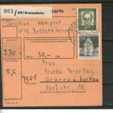 Ungeprüfte Briefmarken aus der BRD (ab 1948) mit Briefstück-Erhaltungszustand und Bauwerks-Motiv