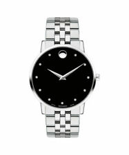 Movado Men's Swiss Museum Classic Diamond Stainless Steel Bracelet Watch 40mm