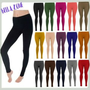 Ladies Plain Stretchy New Viscose Full Length Leggings Plus Size 8-26 HUGE SALE!