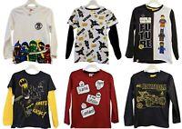 Boys Kids Lego City Ninjago Batman Cars Long Sleeve T Shirt Top age 3-11 years