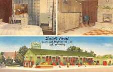 Lusk Wyoming Smiths Court Multiview Antique Postcard K50943